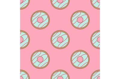 Doughnutsseamless repeat pattern