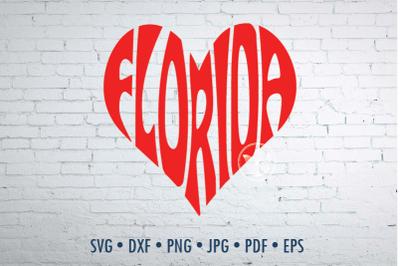 Florida Word Art, Svg Dxf Eps Png Jpg, Cut file