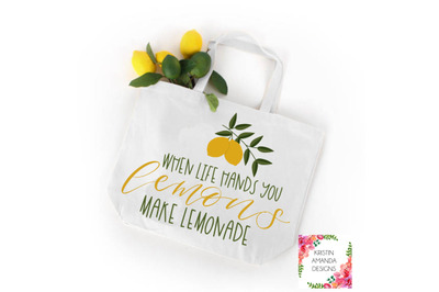 When Life Hands You Lemons Make Lemonade Stand SVG DXF EPS PNG Cut File • Cricut • Silhouette