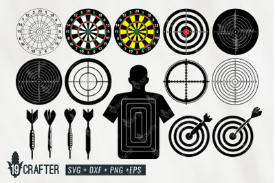 dart shooting target board svg bundle