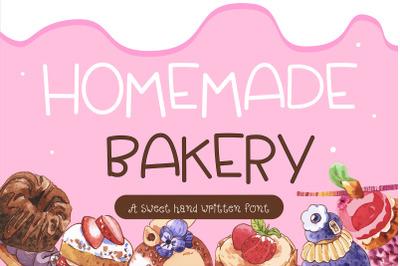 Homemade Bakery Handwritten- cute kid font Kawaii style!