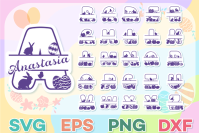Easter SVG Alphabet  | Easter Split SVG