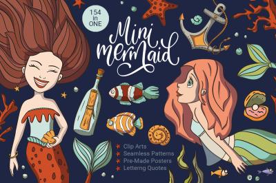 Mini Mermaid. Big Graphic Pack.