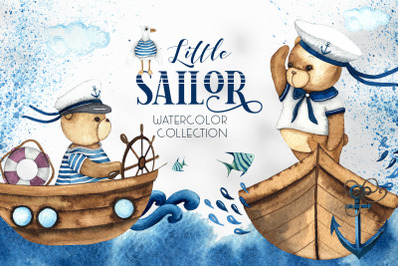 Little Sailor. Watercolor collection