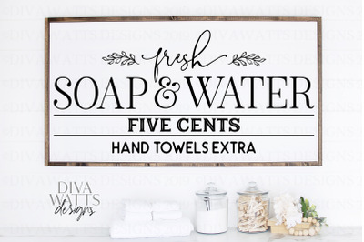 Fresh Soap And Water 5 Centers Hand Towels Extra