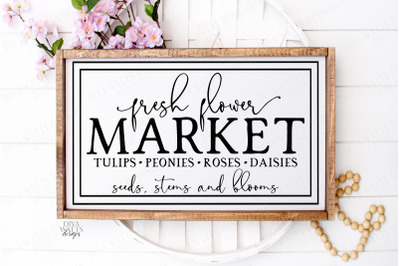 Fresh Flower Market Seeds Stems and Blooms Cut File SVG
