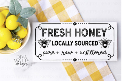 Fresh Honey Locally Sourced Pure Raw Unfiltered Sign Cut File