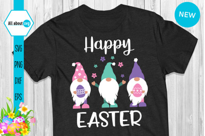 Happy Easter Gnomies Svg
