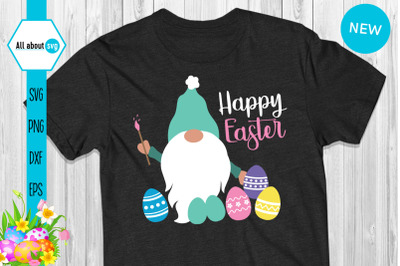 Eater Gnome Svg, Happy Easter Svg, Eggs Svg