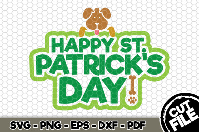 Happy St. Patrick's Day Dog SVG Cut File n162