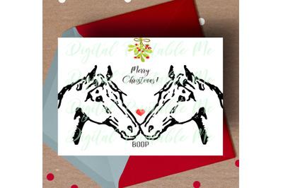Horse Christmas Card, printable christmas card, love horse card