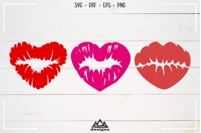 Sexy Love Heart Lips Svg Design