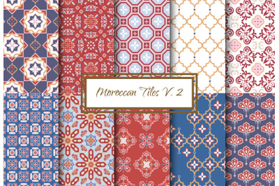 Moroccan Tiles V. 2 - Seamless Patterns