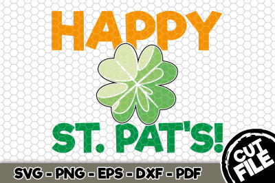 Happy St. Pat's! SVG Cut File n176