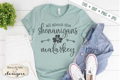 Shenanigans and Malarkey - St.  Patricks Day SVG