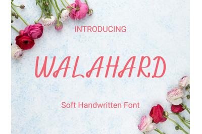 Walahard Handwriting Font