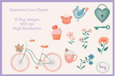 Valentine Love Digital Clipart