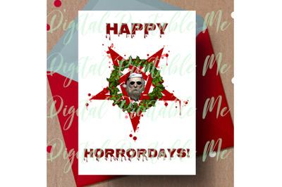 Happy Horrordays, alternative christmas, dark christmas card, gothic C
