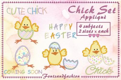 Chick Set_Applique'