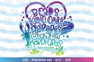 Mardi Gras svg Beads King Cake Parades Crawfish