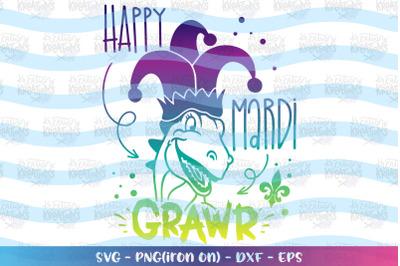 Mardi Gras svg Happy Mardi Grawr svg Dinosaur