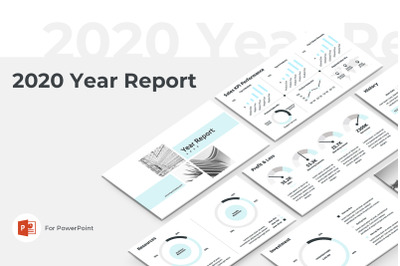 2020 Year Report PowerPoint Presentation Template