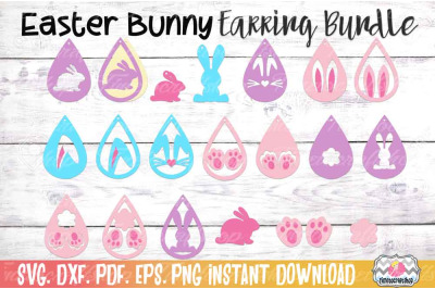 Easter Bunny Earring Bundle, Bunny Ears Earrings, Bunny Tail