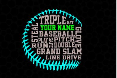 Baseball Word/Typography/Calligraphy