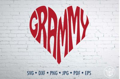 Grammy Word Art, Svg Dxf Eps Png Jpg, Cut file