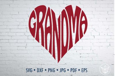 Grandma Word Art, Svg Dxf Eps Png Jpg, Cut file
