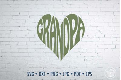 Grandpa Word Art, Svg Dxf Eps Png Jpg, Cut file