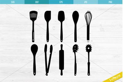 Kitchen Utensils SVG, Cutting Files