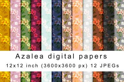 Azalea digital papers
