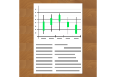 Exchange graph chart vector