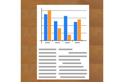 Infographic document vector