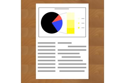 Financial data pie chart