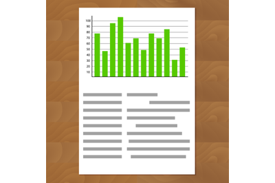 Schedule chart on table vector