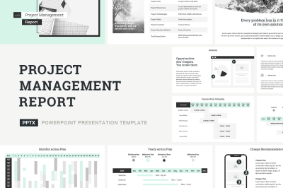 Project Management Report PowerPoint Template