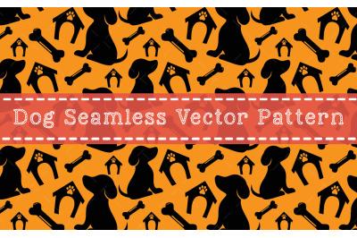 Dog Seamless Vector Pattern Design
