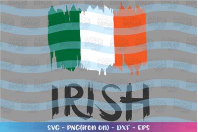 St. Patrick's Day svg Irish Flag distress svg