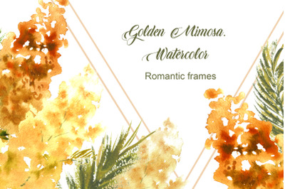 Golden Mimosa.  Watercolor
