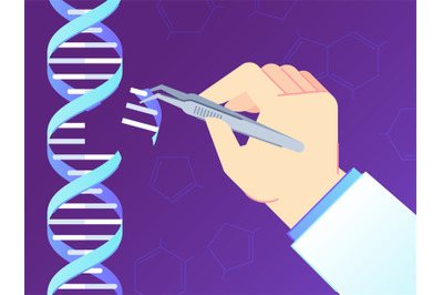 CRISPR CAS9 Gene editing tool. Genome edits, human dna genetic enginee