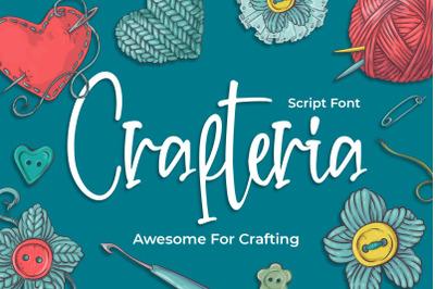 Crafteria Script Font