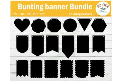 Bunting Banner bundle SVG, Party bunting banner Bundle SVG,DXF,PDF,EPS