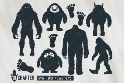 bigfoot and yeti svg bundle