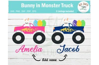 Easter bunny monster truck, Easter egg SVG,PNG,DXF,PDF,EPS