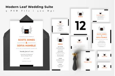 Modern Leaf Wedding Suite