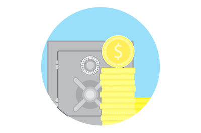 Accrued interest vector icon