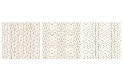 Seamless geometric pattern based on traditional Japanese style kumiko.