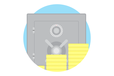 Safe money vector icon